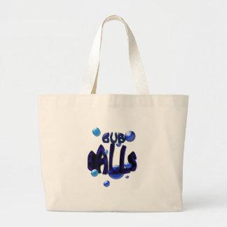 bub balls large tote bag