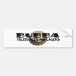 Bubba and Beer Bottle Cap Bumper Sticker