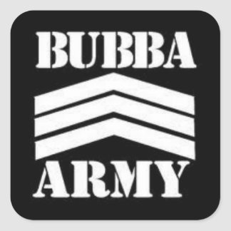 BUBBA ARMY SQUARE STICKER