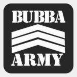 BUBBA ARMY SQUARE STICKERS