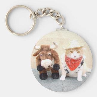 Bubba & Bull Basic Round Button Keychain