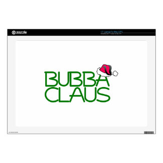 """Bubba Claus Decal For 17"""" Laptop"""