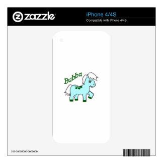 BUBBA PONY iPhone 4S DECALS