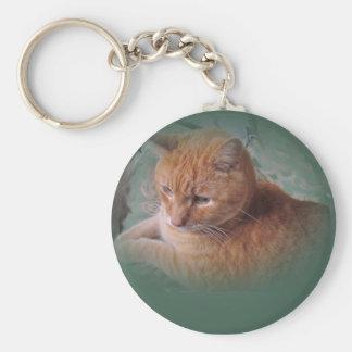 Bubba the Orange Tabby Tomcat Keychain
