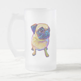 Bubba The Pug Frosted Glass Beer Mug