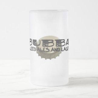 Bubba y casquillo de la botella de cerveza taza cristal mate