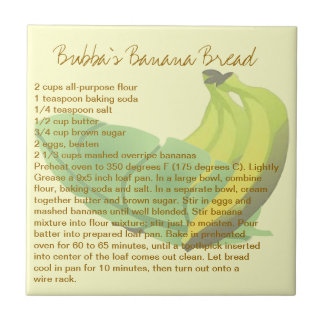 Bubba's Banana Bread Ceramic Tile