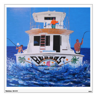 Bubba's boat wall decal