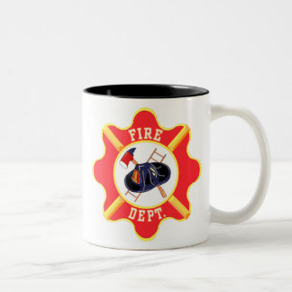 Bubba's Fire Dept  Our , Hometown, Heros Two-Tone Coffee Mug