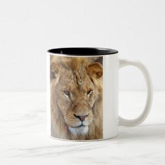 Bubba's Lion mug.. Two-Tone Coffee Mug