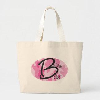 Bubbas y bellezas Camo rosado Bolsa Tela Grande