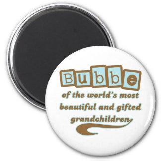 Bubbe de nietos dotados imán redondo 5 cm