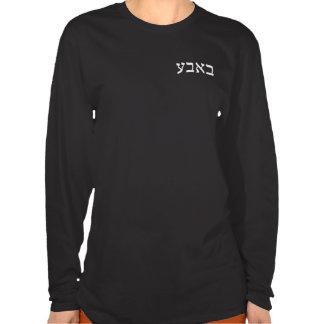 Bubbe en letras de molde hebreas camisetas