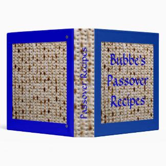 Bubbe s Passover Matzoh Recipe Album - Customize Binder