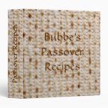 Bubbe's Binder Passover Matzoh Recipe Album