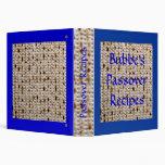 Bubbe's Passover Matzoh Recipe Album - Customize! Binder