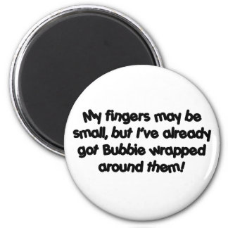 Bubbie's Wrapped! 2 Inch Round Magnet