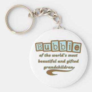 Bubbie of Gifted Grandchildren Keychain