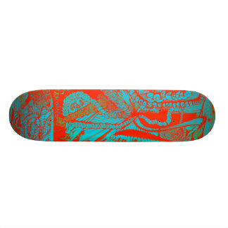 bubble and pop turquoise skateboard