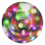 Bubble Art Melamine Plate