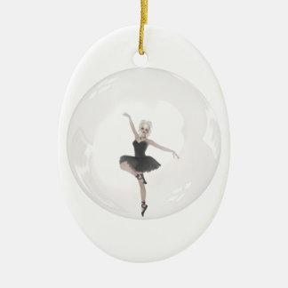 Bubble Ballerina 1 Ceramic Ornament
