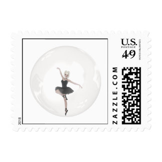 Bubble Ballerina 1 Postage Stamps