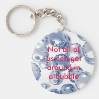 Bubble Basic Round Button Keychain