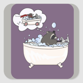 Bubble Bath Dream Square Sticker