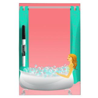 Bubble Bath Dry-Erase Boards