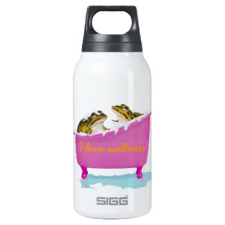 Bubble bath for pet frogs 10 oz insulated SIGG thermos water bottle