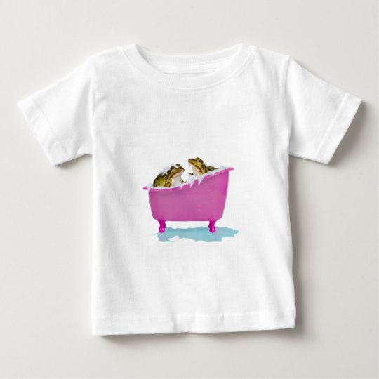 Bubble bath for pet frogs baby T-Shirt