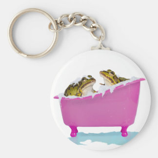 Bubble bath for pet frogs keychain