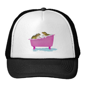 Bubble bath for pet frogs trucker hat