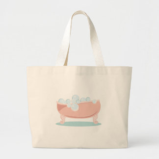 Bubble Bath Large Tote Bag