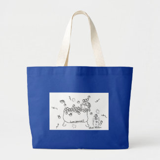 Bubble Bath 'Love Yourself' Large Tote Bag