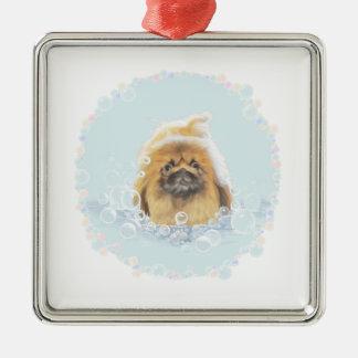 Bubble Bath Metal Ornament