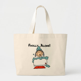 Bubble Bath Stick Figure Tshirts and Gifts Large Tote Bag