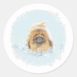 Bubble Bath Classic Round Sticker