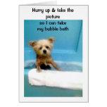 Bubble Bath Time Greeting Card