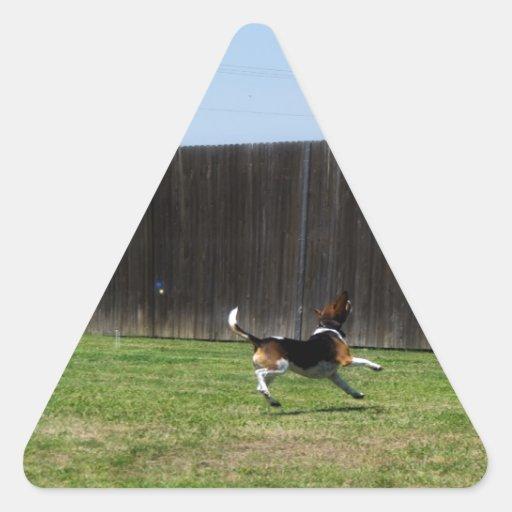 bubble beagle triangle sticker