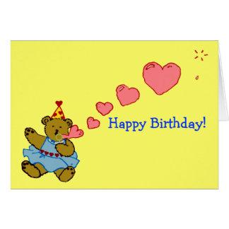 Bubble Bear Birthday Card
