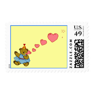 Bubble Bear Postage Stamp