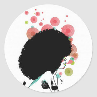 Bubble Bee Classic Round Sticker