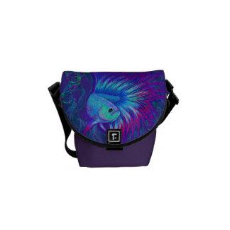 Bubble Betta in Purple Messenger Bag