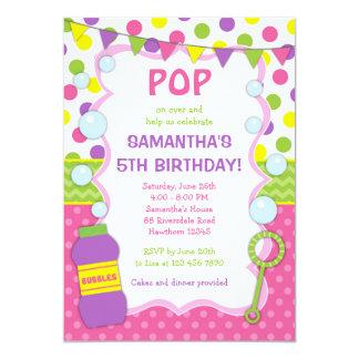 Bubble Birthday Invitation / Bubble Invite