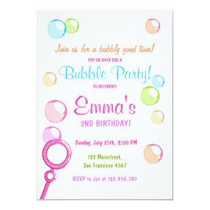 bubble birthday invitations zazzle