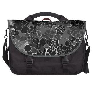Bubble Black Polka Dots Laptop Bag