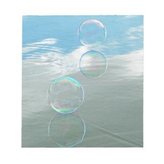 Bubble, Blue Notepad