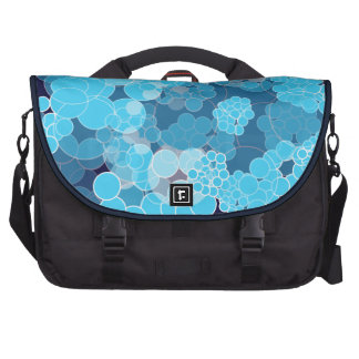 Bubble Blue Polka Dots Laptop Bag