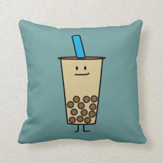 Bubble Boba Pearl Milk Tea Tapioca balls Throw Pillow